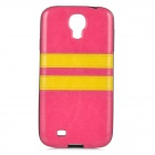 HHEC-273 Protective PU + PC Back Case for Samsung i9500 - Deep Pink