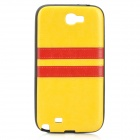 HHEC-275 Protective PU + PC Back Case for Samsung N7100 - Yellow