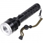 KX-30D Cree XP-E R2 3-Mode 270lm White Red / Blue Light Flashlight w/ Compass (1 x 26650)