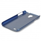 Protective Plastic Back Case for Samsung Galaxy S4 - Deep Blue