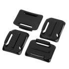 lim mounts satt for gopro hero 2/3/3 + - svart + rødt (8pcs)