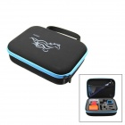 HGYBEST Protective EVA Camera Storage Bag for GoPro HD Hero 3+ / 3 / 2 - Black + Blue