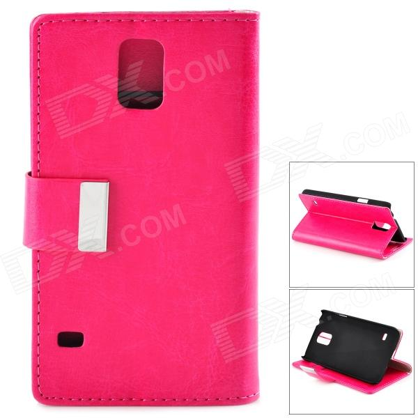 Crystal Pattern Protective PU + PC Case w/ Stand for Samsung S5 - Deep Pink nillkin protective pu leather pc case cover w visual window for samsung galaxy s5 deep pink