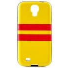 HHEC-273 Protective PU + PC Back Case for Samsung i9500 - Yellow
