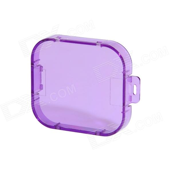 Professional Diving Housing Filter for GoPro Hero 3Lenses &amp; Lenses Accessories<br>Form  ColorPurpleBrandHighProModelCF_PurMaterialOptical plexiglassQuantity1 DX.PCM.Model.AttributeModel.UnitCompatible BrandGOPROCompatible ModelsHero3 HousingLens DiameterOthersShade Of ColorPurpleCompatible ModelsGoPro Hero 3Packing List1 x Filter<br>