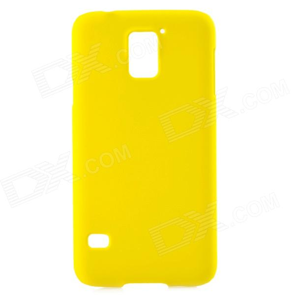 Stylish Protective Matte PC Back Case for Samsung Galaxy S5 - Yellow