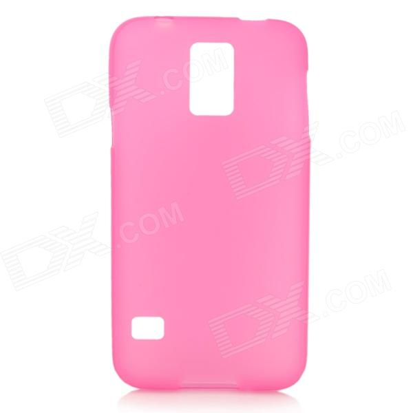 Protective PVC + TPU Back Case + Screen Protector for Samsung Galaxy S5 - Dark Pink protective pvc tpu back case w screen protector for samsung galaxy s5 black