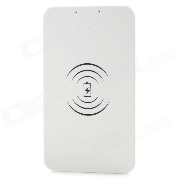 Universal QI Wireless Charger for Cellphone - White (EU Plug) positive qi wireless charger pad universal wireless receiver for micro usb cellphone white