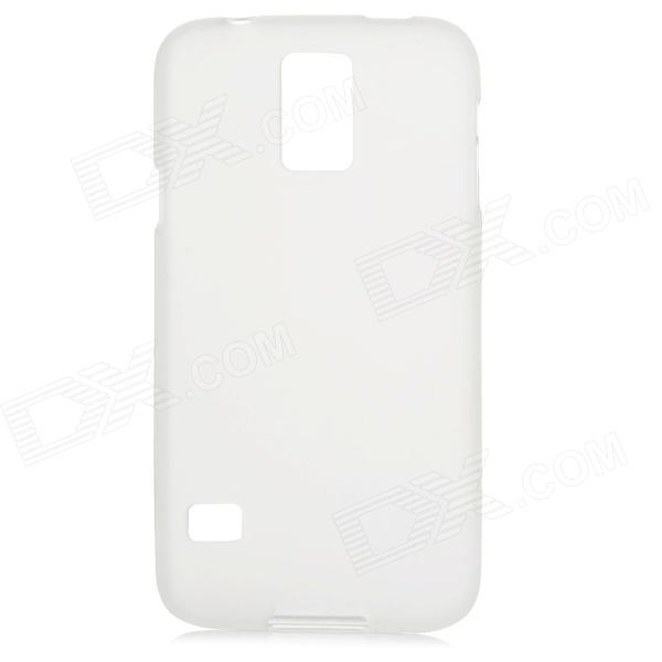 Protective PVC + TPU Back Case w/ Clear Screen Guard for Samsung Galaxy S5 - Translucent White protective pvc tpu back case screen protector for samsung galaxy s5 dark pink