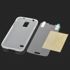Protective PVC + TPU Back Case w/ Clear Screen Guard for Samsung Galaxy S5 - Translucent White