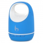 Small Pail Style Bluetooth V3.0 Handsfree Speaker w/ Microphone - Blue + White