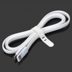 Bolongking USB 2.0 Male to Micro USB Charging Flat Cable for Samsung / HTC - White (1.2m)