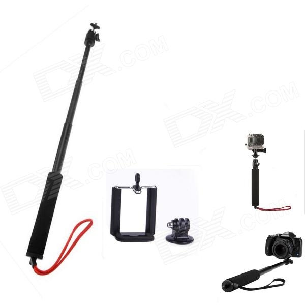 3-in-1 Adjustable Handheld Selfie Monopod for Camera/Cellphone/GoPro Hero 2/3/3+/SJ4000 - Black