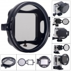 Fat Cat 58mm CPL Circular Polarizer Lens Filter for GoPro Hero 3+ Housing w/ Flip Converter - Black