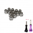 Standard M5 Stainless Steel Screw Caps for Gopro Hero 4/ / Hero2 / Hero3 / 3+ / SJ4000 - (12 PCS)