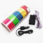 KINGLEASEN 9025 555-LED Car Music Rhythm Light - Multicolored (90 x 25cm)