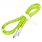 Bolongking USB 2.0 M to Micro USB M Charging Flat Cable - Green (1.2m)