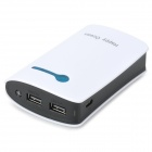 Happy Ocean H708 Universal 7800mAh Li-ion Portable Power Bank - White + Black