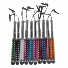 MXT MXT11 Aluminum Retractable Stylus Pen w/ Strap for Cellphones - Multicolored (10 PCS)