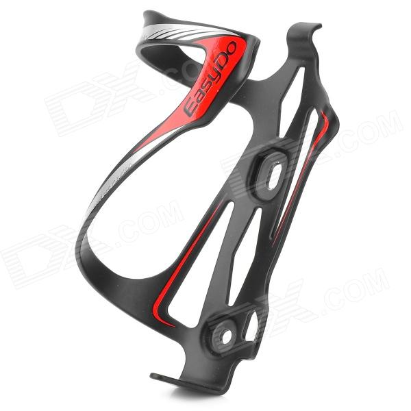 EASYDO SD-5 Aluminum Alloy Bicycle Water Bottle Cage / Holder - Black + Red