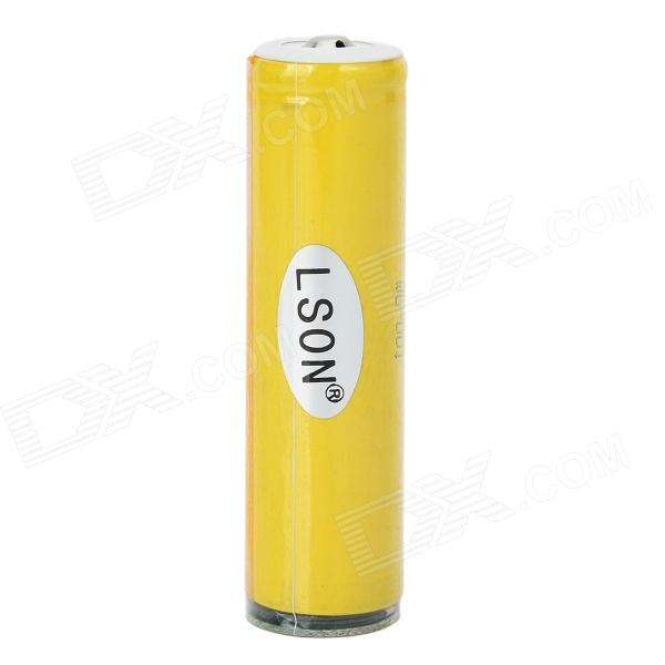 LSON ICR 3.7V 1900mAh 18650 Rechargeable Li-ion Battery - Yellow