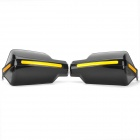 Motorcycle Modification Anti-Shock Handlebar Wind Shield Gauntlets - Black + Yellow
