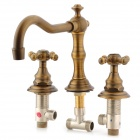 Phasat 4308 Retro Brass Water Tap / Faucet w/ 2-Switches Set - Antique Brass