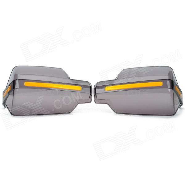 Motorcycle Modification Anti-Shock Handlebar Wind Shield Gauntlets - Translucent Grey