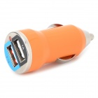 Mini compacto duplo Universal saída USB Car Charger w / LED indicador - Orange