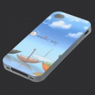 Cartoon Umbrella Pattern Gloe-in-the-dark Protective TPU Back Case for IPHONE 4 / 4S