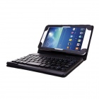 Bluetooth V3.0 59-Key Keyboard w/ Protective PU Leather Case Stand for Samsung Galaxy Tab3 Lite T110
