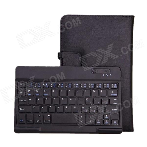 Bluetooth V3.0 59-Key Keyboard w/ Protective PU Leather Case Stand for Samsung Galaxy Tab Pro 8.4