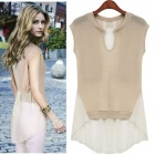 MEIFEIER-407 Fashion Chiffon Top for Women - Apricot (Size M)