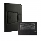 Detachable 78-Key Bluetooth V3.0 Keyboard PU Leather Case for Samsung Galaxy Pro P900 - Black