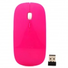 Promi MF-822 Ultra-Slim 2.4GHz Wireless Ergonomic Optical LED 1600dpi Mouse - Deep Pink (2 x AAA)