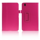 ENKAY Protective PU Leather Case w/ Stand for Samsung Galaxy Tab Pro 8.4 T320 / T321 - Deep Pink