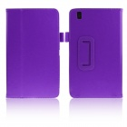ENKAY Protective PU Leather Case w/ Stand for Samsung Galaxy Tab Pro 8.4 T320 / T321 - Purple
