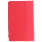 "Universal Stylish Protective PU Leather Case Cover Stand for 9"" Tablet PC - Red"