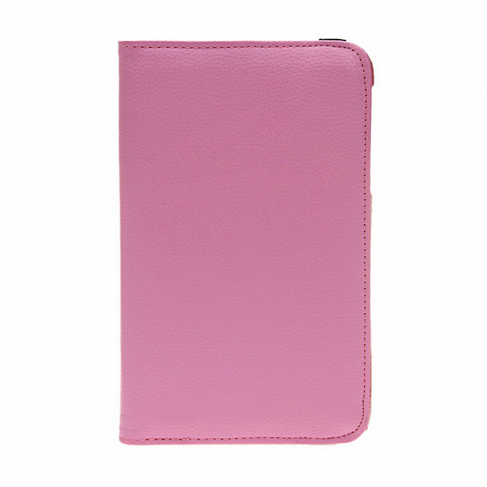 Фото 360 Degree Rotation Protective PU + PC Case Cover Stand for Samsung Galaxy Tab 3 Lite T110 - Pink 100pcs lot 360 degree rotating litchi folio stand pu leather skin case cover for samsung galaxy tab s3 9 7t825 t820 fundas case
