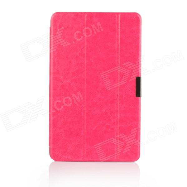 Protective 3- Fold PU Leather Cover Stand w/ Magnet Buckle for Dell Venue 8 Pro - Deep Pink планшет dell venue 11 pro ru96