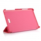 Protective 3- Fold PU Leather Cover Stand w/ Magnet Buckle for Dell Venue 8 Pro - Deep Pink