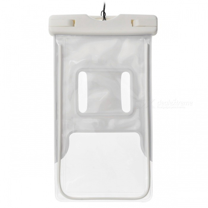 PVE Protective Waterproof Diving Bag for Samsung S5 / Note N9000 - Translucent White + Black