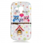 Cute Owl Pattern Protective TPU Back Case for Samsung Galaxy Trend Duos S7562 / S7560