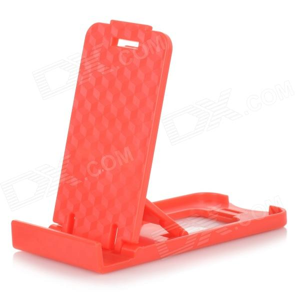 Mini Universal Desktop Mobile Phone Stand Holder - Red - DXMounts &amp; Holders<br>Color Red Brand N/A Model N/A Material Plastic Quantity 1 Set Mount Type Desktop Compatible Models Universal Other Features Fashion design cute and foldable convenient to storage can used for watching movies Packing List 1 x Stand<br>