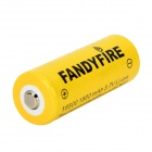 FANDYFIRE 3.7V 1400mAh 18500 Rechargeable Li-ion Battery - Yellow (2 PCS)