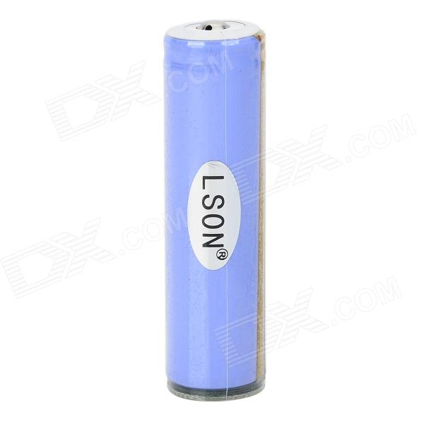 Lson 18650 3.7V 2200mAh rechargeable Li-ion w / protection IC - Violet