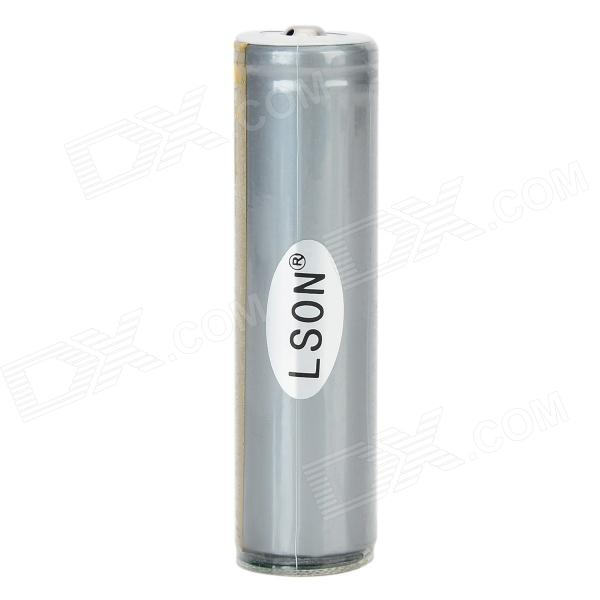 LSON 18650 3.7V 2400mAh Rechargeable Li-ion Battery w/ Protection IC - Silvery Gray