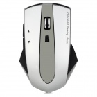 Promi MG-011 2.4GHz Wireless 1200dpi Mouse w/ 3-Port USB 2.0 Hub Dock - Sliver