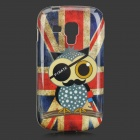 Owl + UK Flag Pattern TPU Back Case for Samsung Galaxy Trend Duos S7562 / S7560 - Multicolored