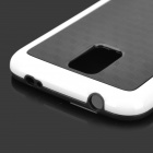Protective TPU + PC Back Case for Samsung Galaxy S5 - Black + White